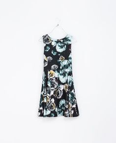 FLORAL PRINT DRESS - Dresses - TRF | ZARA United States on Wanelo