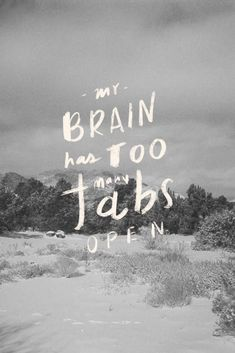 my brain has too many tabs open.