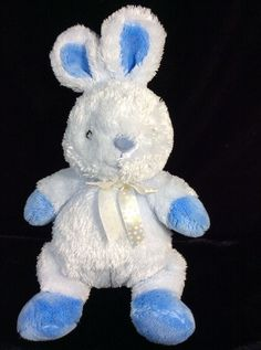 Just One Year Blue Bunny Rabbit Plush Soft Toy Carters Baby Stuffed #JustOneYear