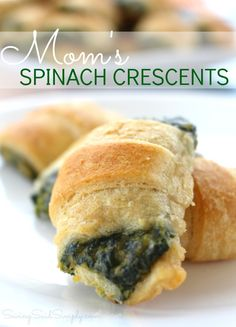 Best Spinach Appetizer Recipe | Mom's Spinach Crescents - A family recipe, taste tested, adult & kid approved. Delicious spinach bites for entertaining