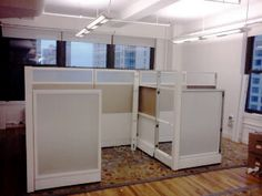 This custom cubicle projects challenge was to fit an office space within a small area, while keeping the look of the space clean and open feeling. Many office spaces in New York City present a space challenge and with our Sapphire Custom Cubicles we were able to achieve exactly what the client was looking for. #customcubes #wholesalebusinessfurniture #callcentercost #callcenterprices #cubiclecost #cubiclesinnewyork #officecubicles