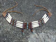 Buffalo Hairpipe Native American Choker Bone by SinginHoundBeadz, $34.00