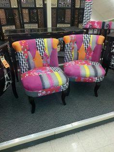 Hobby Lobby Matching Stools | Bright Chairs From Hobby Lobby.
