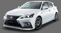 The CT is being discontinued in the U. and is expected to be replaced by the UX crossover. However, Japan still thinks hatchbacks are cool and has treated the baby Lexus to the same aggressive TRD treatment as it does the Prius. Lexus 2017, Lexus Ct200h, Lexus Cars, Gmc All Terrain, Toyota Racing Development, Silverado Hd, Sport Body, Car Ford, Trd