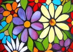 Mountain Stained Glass Patterns Free | Stained Glass Flowers Wallpaper