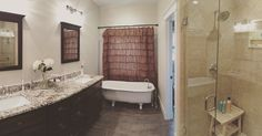 A free-standing bathtub completes this master bath! The Runnymeade #1164. http://www.dongardner.com/house-plan/1164/the-runnymeade. #Bathroom #MasterBathroom #HomePlan