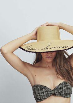 Straw pamela hat - Hats for Women | MANGO USA