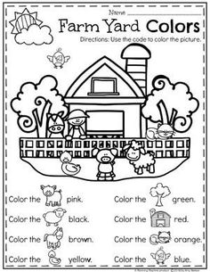 Teacher Discover Preschool Farm Theme - Planning Playtime Farm Coloring Page for a Preschool Farm Unit Farm Animals Preschool, Preschool At Home, Kindergarten Worksheets, In Kindergarten, Preschool Farm Theme, Farm Theme Classroom, Preschool Ideas, Farm Activities, Educational Activities