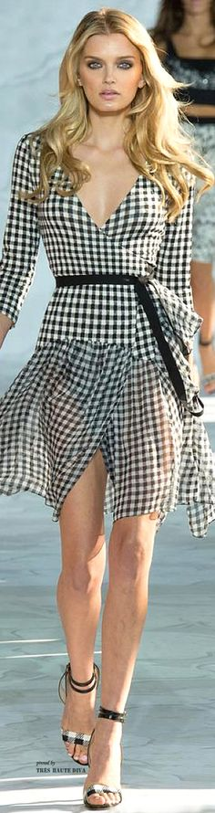 Black and white gingham check dress ~ Diane von Furstenberg - Spring/Summer Collection 2015 RTW...x