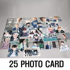 K-Pop BTS High Resolution Transparent Photo Card 25 Set (Pack of 25) Goods