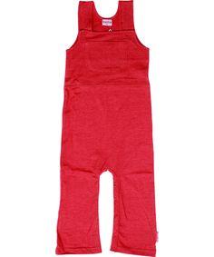 Baba Babywear adorable overall worker style in red. baba-babywear.en.emilea.be
