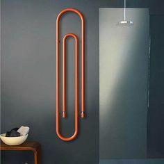 Friday night minimal with a pinch of POP!  Graffe Radiator by Scirocco-H  #designbest #radiators #interiordesign