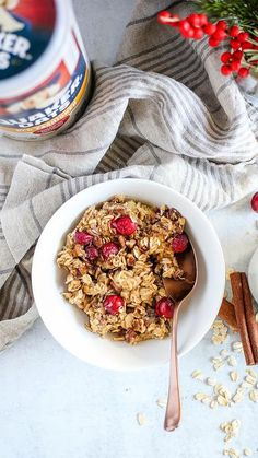 Delicious Breakfast Recipes, Brunch Recipes, Yummy Food, Baked Oatmeal Recipes, Smart Nutrition, Maple Pecan, 9x13 Baking Dish, Cranberry Recipes, Recipe Details