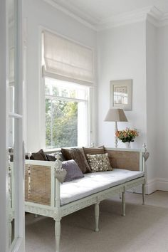 I love the woven back and wings of this daybed