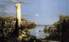 The Course of Empire: Desolation    Artist: Thomas Cole, and one of a great series of four