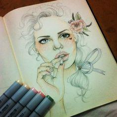 Sketchbook by Camila Gray, via Behance