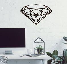 Geometric Diamond Metal Wall Art Home Decor Interior Sign Wall | Etsy