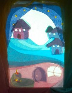 Landscape for a color shadow puppet story