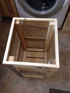 How to Build a Wood Hamper   Wood hamper, Wood laundry ...