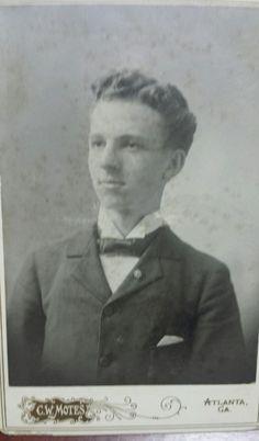 C. W. Motes Atlanta Cabinet Card photo 1897 Emory Graduate Alpha Tau Omega Id'd