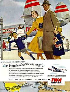 TWA airline family campaign - 1951