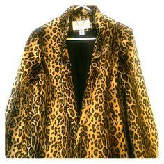 Leopard print swing jacket Very lightweight stylish jacket, worn once Jaclyn Smith Jackets & Coats
