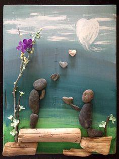 Pebble art от LeisureStiles на Etsy