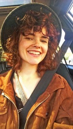 Short curly hair Red Hair Fringe Grunge Vintage Me Charlotte Von Bonin