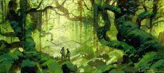 "Paul Lasaine's ""Fangorn Forest"" sketch"