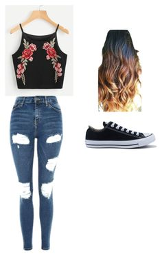 """Casual"" by elieanagarrick on Polyvore featuring Topshop and Converse"