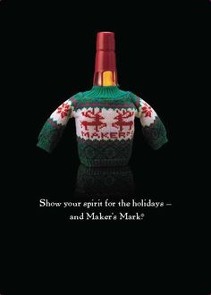 A Maker's Mark sweater, you've got to be kidding! Love this! Not that I can hold the stuff down, but it's adorable
