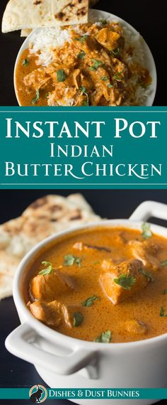 Instant Pot Indian Butter Chicken (with Slow Cooker Option) via Michelle Varga (. - Instant Pot Indian Butter Chicken (with Slow Cooker Option) via Michelle Varga (Dishes and Dust Bun - Healthy Crockpot Recipes, Healthy Breakfast Recipes, Indian Slow Cooker Recipes, Dinner Healthy, Butter Chicken Slow Cooker, Chicken Cooker, Recipe For Indian Butter Chicken, Butter Chicken Recipe Crockpot, Healthy Vegetarian Recipes