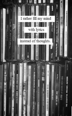 Lyrics instead of thoughts