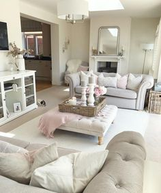 Super Home Decoration Living Room Modern Salons 16 Ideas Small Living Room Design, Cozy Living Rooms, My Living Room, Home And Living, Living Room Designs, Cosy Grey Living Room, Cottage Shabby Chic, French Country Living Room, Living Room Decor Country