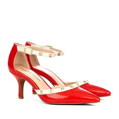 "These red Sole Society ""Anneke"" shoes would be great for a game watching party!"