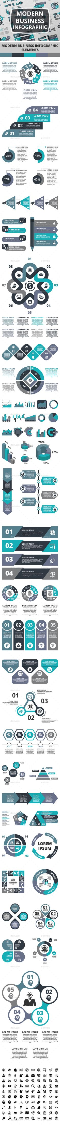 Modern Business Infographic Templates Vector EPS, AI