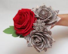 bridal flower bridal bouquet bridesmaids by FlowerDecoration