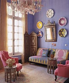 bright pastels, moroccan style