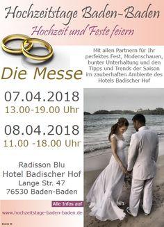 Hochzeitstage Hochzeitsmesse in Baden Baden 2018