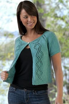 Ravelry: Top-Down Summer Lace Cardigan Shrug pattern by Vera Sanon