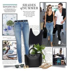"""""""Shades Of Summer"""" by thewondersoffashion ❤ liked on Polyvore featuring Exclusive for Intermix, Yves Saint Laurent, Worlds Away, Givenchy, Monsoon, Ray-Ban, Kate Spade and Lauren Ralph Lauren"""