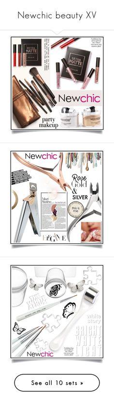 """""""Newchic beauty XV"""" by ewa-naukowicz-wojcik ❤ liked on Polyvore featuring beauty, DuÅ¡an and WALL"""