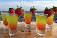 LICK MY P*SSY Coconut Rum Melon Liqueur Pineapple Juice Grenadine Strawberry