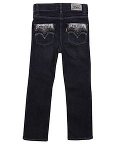 Levi's Kids Jeans, Little Girls Sequin Julia Skinny Jeans - Kids - Macy's