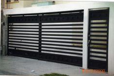 House Main Gates Design, Modern Exterior House Designs, Door Gate Design, Garage Exterior, Garage Doors, Garage Door Security, Wrought Iron Doors, Gate House, Home Office Decor
