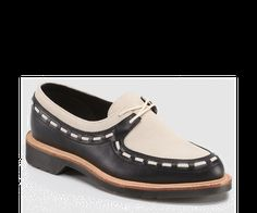 62e176eba0b1 This Black   Porcelain Aggy Blucher Leather Loafer by Dr. Martens is  perfect!