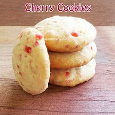 Cherry Cookies, buttery and yum.step by step! Uggggg cant have cherries in my house (son is allergic) someone tell me how yummy they r Cookie Brownie Bars, Cookie Desserts, Just Desserts, Cookie Recipes, Delicious Desserts, Dessert Recipes, Yummy Food, Bar Recipes, Dessert Ideas