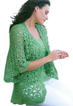 Plus Size Shrug Cardigan in Crochet | Plus Size Tops | Jessica London