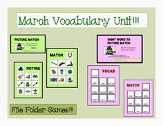 March Vocabulary Unit!