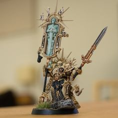 Stormcast Eternals Lord Relictor with sword in bone armour